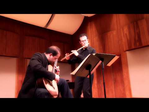 Astor Piazzolla - Concert D'Aujourd'hui for flute & guitar - Marco Granados, Felippe Santos