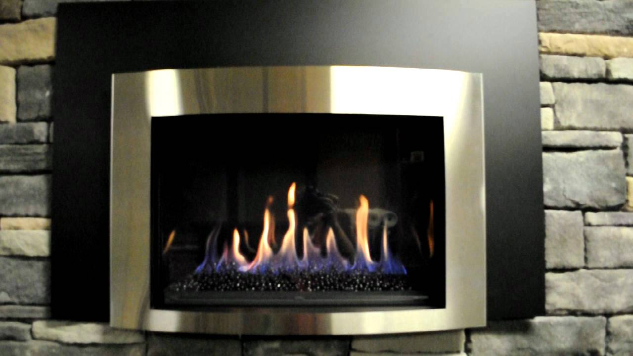 Kozy Heat Minneapolis gas fireplace insert - YouTube