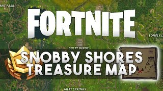 Follow the treasure map found in Snobby Shores - FORTNITE: Battle Royale