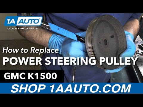 How to Replace Install Power Steering Pulley 1996 GMC Sierra K1500