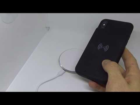 Чехол аккумулятор с беспроводной зарядкой для iPhone X smart battery case
