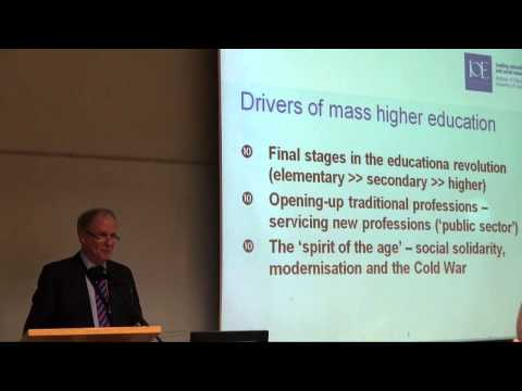 Peter Scott: Mass to Market Higher Education Systems: New Transition or False Dawn?