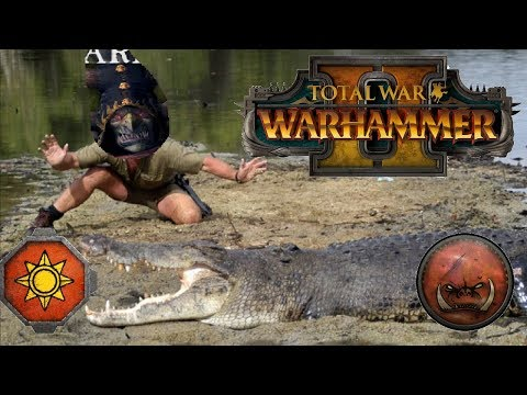 Lizardmen vs Greenskins | KROXIGOR WRESTLING - Total War Warhammer 2