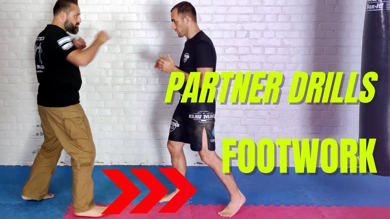 4 Krav Maga Partner-Footwork-Drills. Krav Maga Online Training