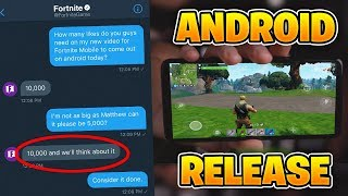 Fortnite Mobile ANDROID Download Release TODAY (Fortnite Mobile Android DOWNLOAD)