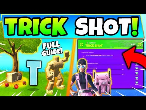 Fortnite ORCHARD & TRICK SHOT CHALLENGES GUIDE! - Pipeman And Hayman (Fortnite Missions)