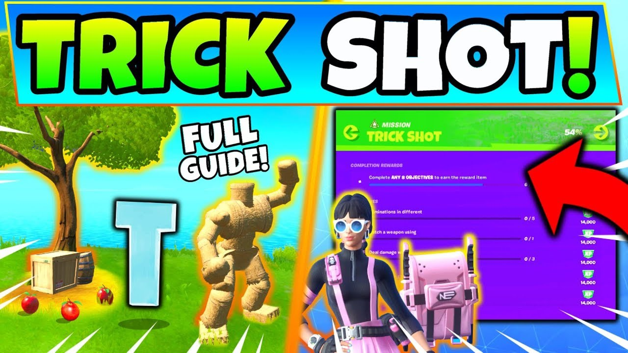 Fortnite ORCHARD & TRICK SHOT CHALLENGES GUIDE! - Pipeman ...