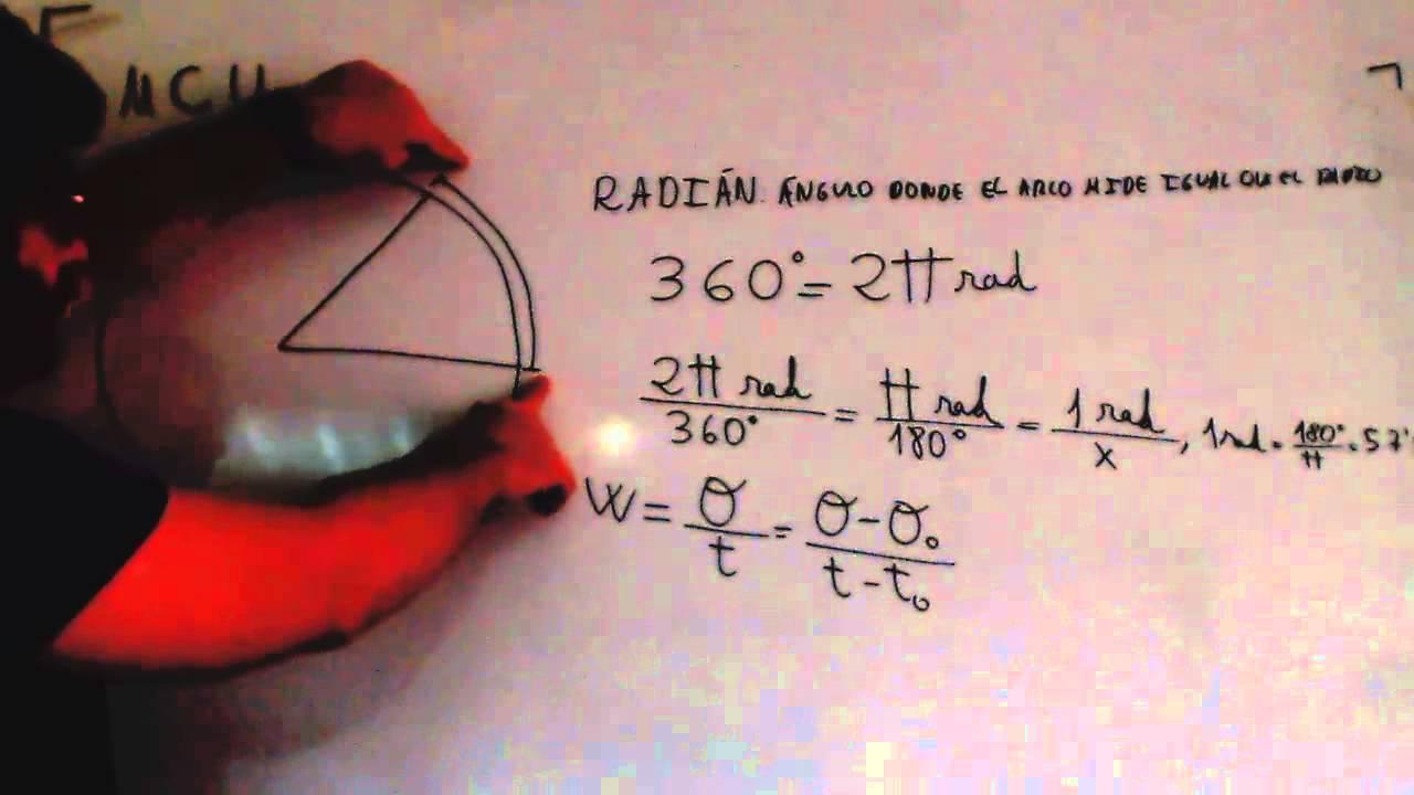 Movimiento Circular Uniforme Radian Formulas Fisica 4º ESO Academia ...