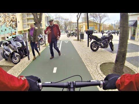 The Most Dangerous Bike Lane in Lisbon