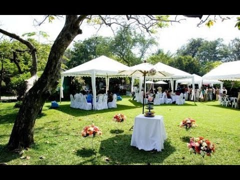 Simple Garden Wedding Reception Youtube