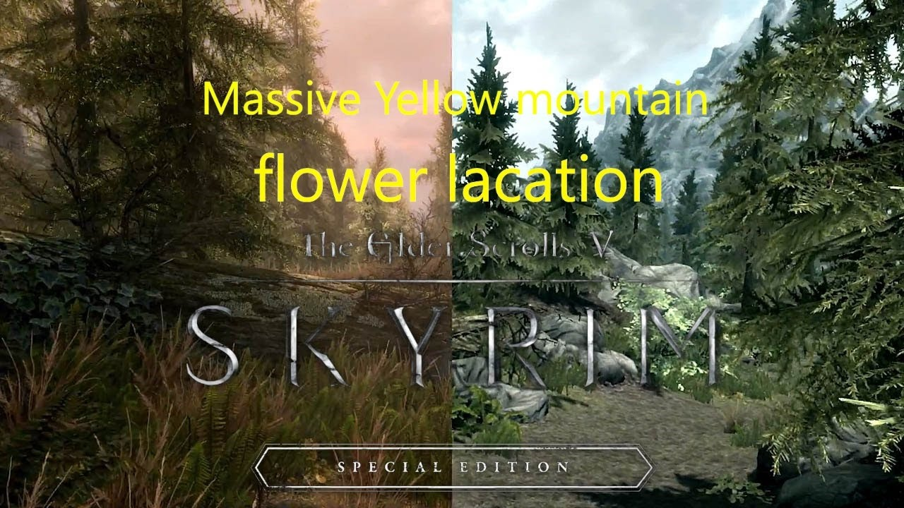 Massive Yellow Mountain Flower Location In Skyrim Remastered Youtube