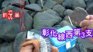 釣魚趣 彰化線西第3支水箭波堤 乾潮前後有沙格