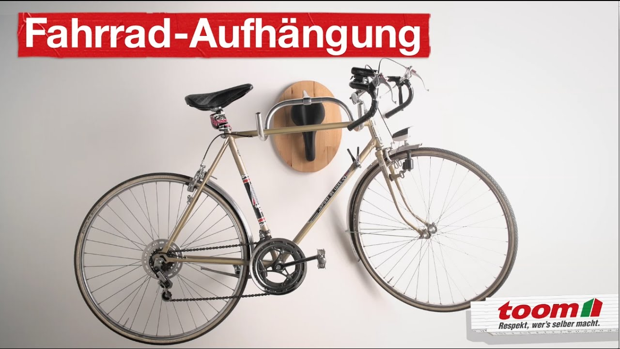wandtroph e als fahrrad aufh ngung diy by toom youtube. Black Bedroom Furniture Sets. Home Design Ideas