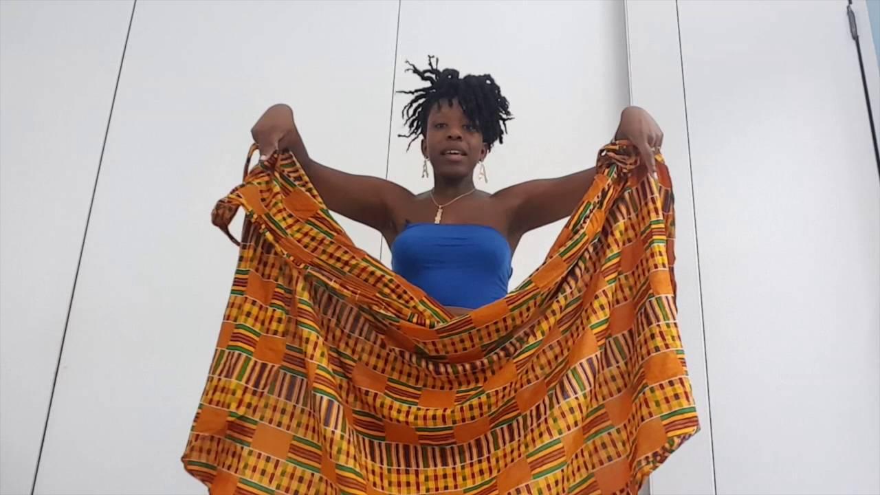 45658a62a340 Queen Adwoa s Closet Body Wrap Tutorial part 1 - YouTube