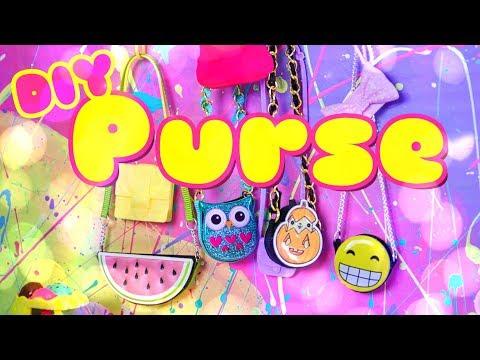 DIY - How to Make: Doll Purse | Cartoon Bag | Cross Body Bag | Emoji Bag