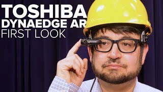 Toshiba's AR smart glasses first look: Augmented reality glasses for field work