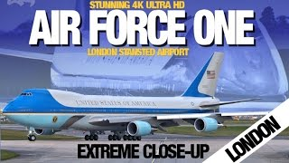 Air Force One - President Obama departs London Stansted Airport - Boeing VC-25 USA POTUS Osprey
