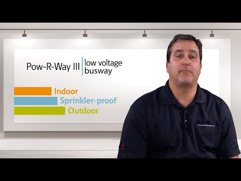 The differences between Indoor, Sprinkler-proof and Outdoor rated Pow-R-Way III Busway