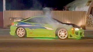 Первая Гонка Доминика и Брайна (Форсаж) | Лучшие Моменты | The Fast and the Furious