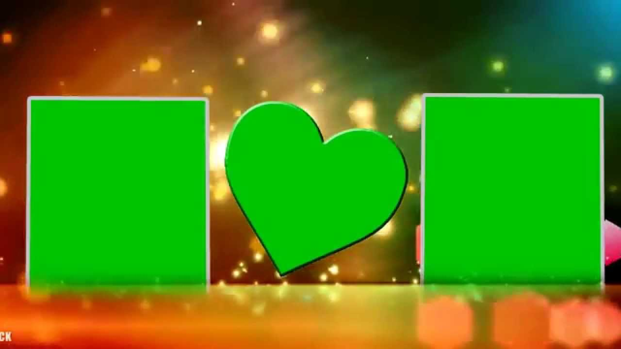 HD Beautiful Wedding Frame Green Screen Video Background - YouTube