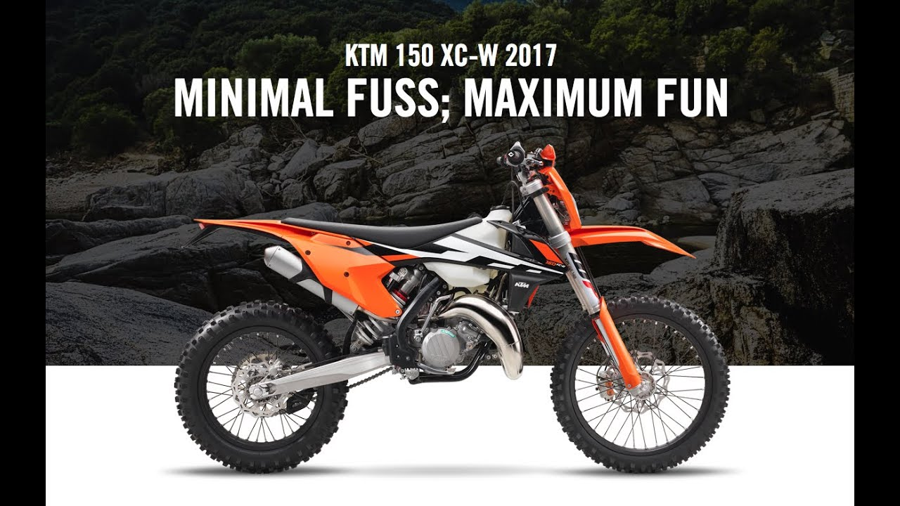 ktm demo day | 2017 150 xc-w | fun to ride - youtube