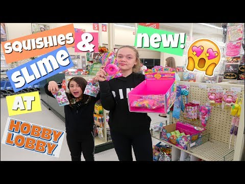 SQUISHIES & NEW SLIME AT HOBBY LOBBY! VLOG