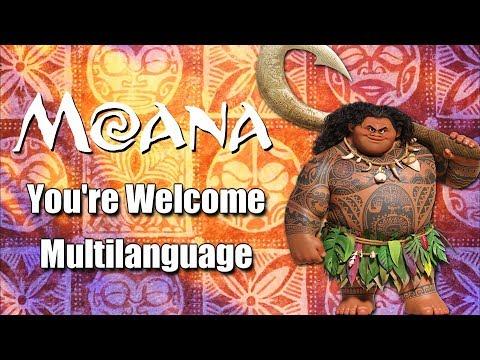 Moana - You're Welcome (Multilanguage)