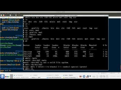 How to install Minix 1.7.5 in Virtualbox