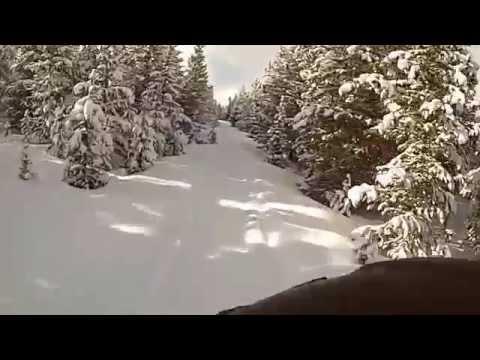 Big Horn Mountain Snowmobiling || GoPro Hero3 HD