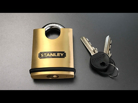 [399] Stanley 50mm Closed Shackle Brass Padlock Picked
