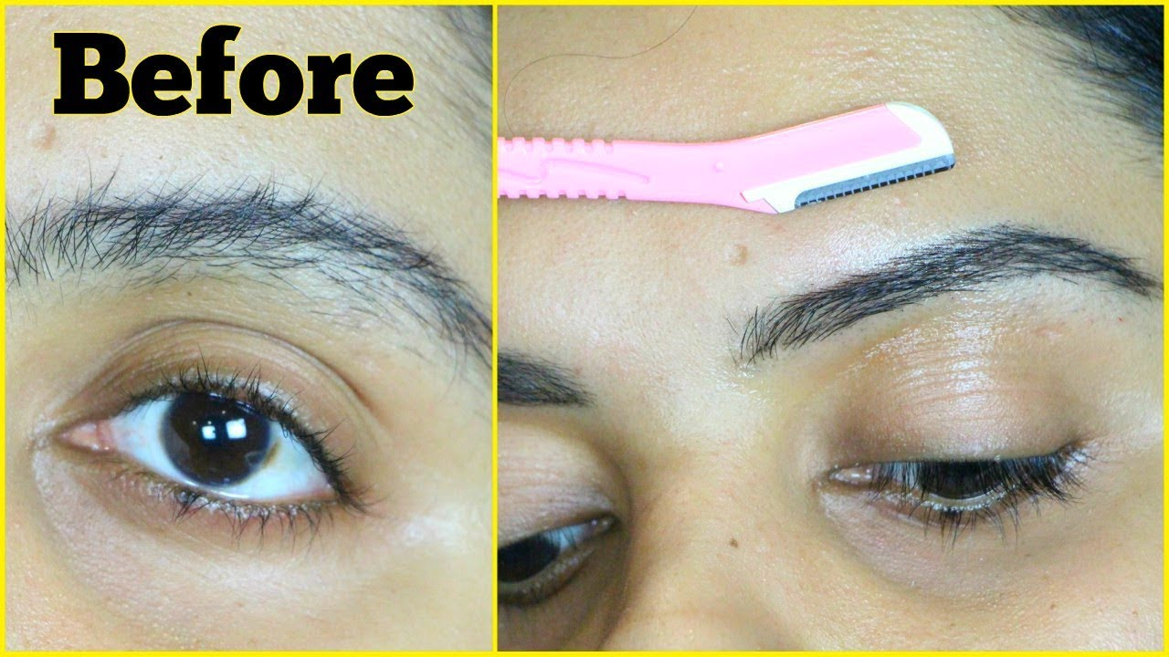 how to cut eyebrows with razor