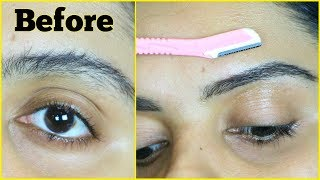 eyebrow threading at home