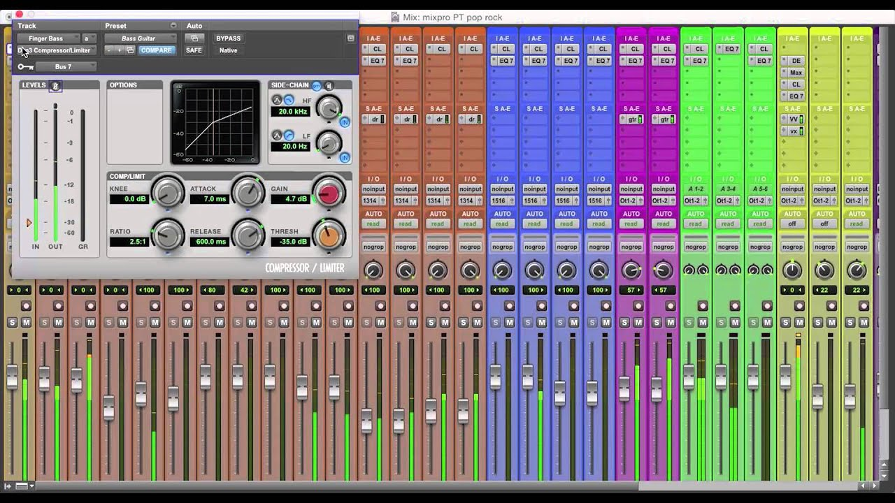 Pro Tools Mix Templates - YouTube
