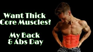 Training for core thickness | How to build a thicker back & abs | Full workout
