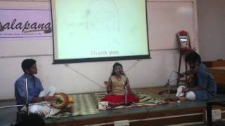 Swetha singing Sri Subramanyaya Namasthe at IISc