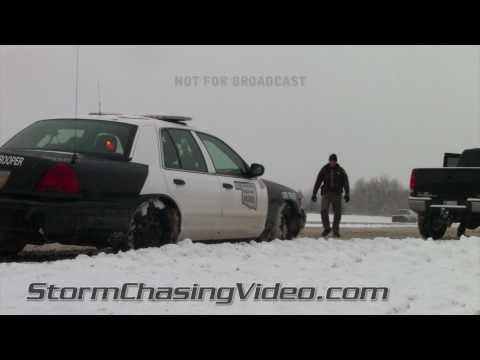2/4/2011 Eastern Oklahoma City Winter Storm Footage.
