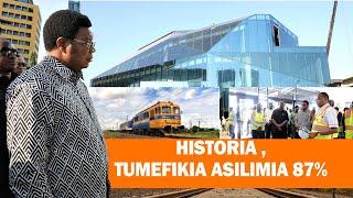 #HISTORIA TANZANIA-WAZIRI MKUU MAJALIWA ATEMBELEA MRADI WA SGR,UJENZI UMEFIKIA ZAIDI YA ASILIMIA 87.