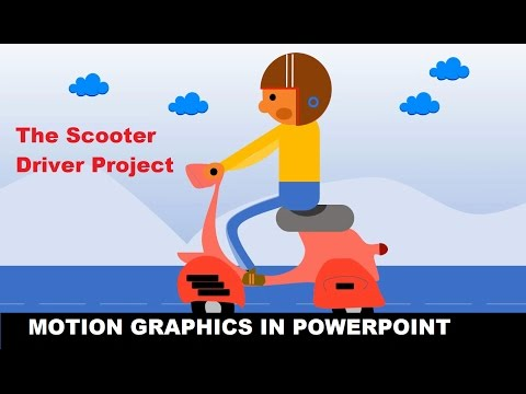 How to Do Motion Graphics in PowerPoint 2016 | The Scooter Driver Project Tutorial