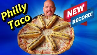 Most Philly Tacos Ever Eaten - NEW RECORD - 8 Philly Tacos 14.7 LBS  - 111,111 YT SUBSCRIBER SPECIAL
