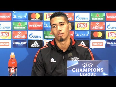 Chris Smalling Full Pre-Match Press Conference - FC Basel v Manchester United - Champions League