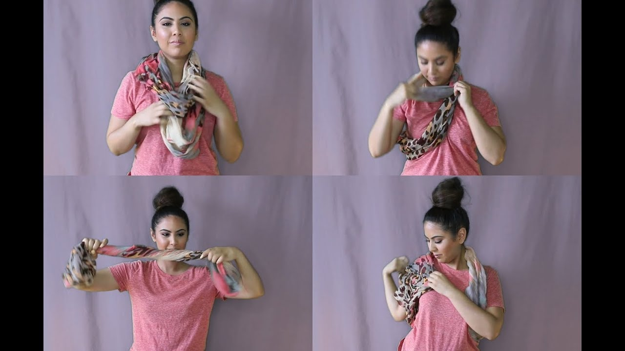 How To Wear An Infinity Scarf 5 Different Gorgeous Looking