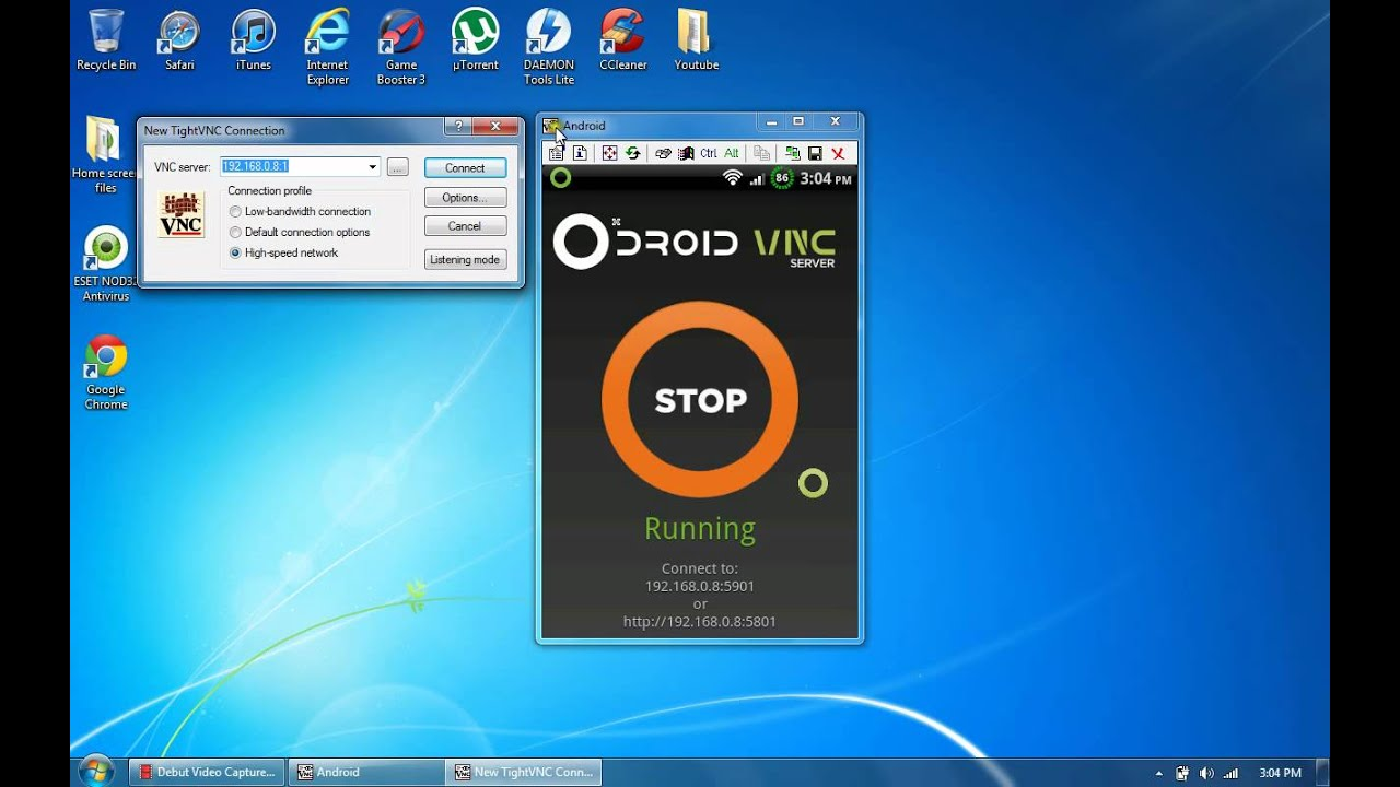 how to control android phone from pc computer 2012 - youtube