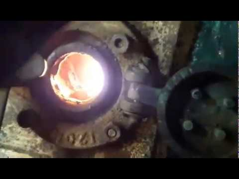 oil  boiler  improvement of combustion burning oil sludge