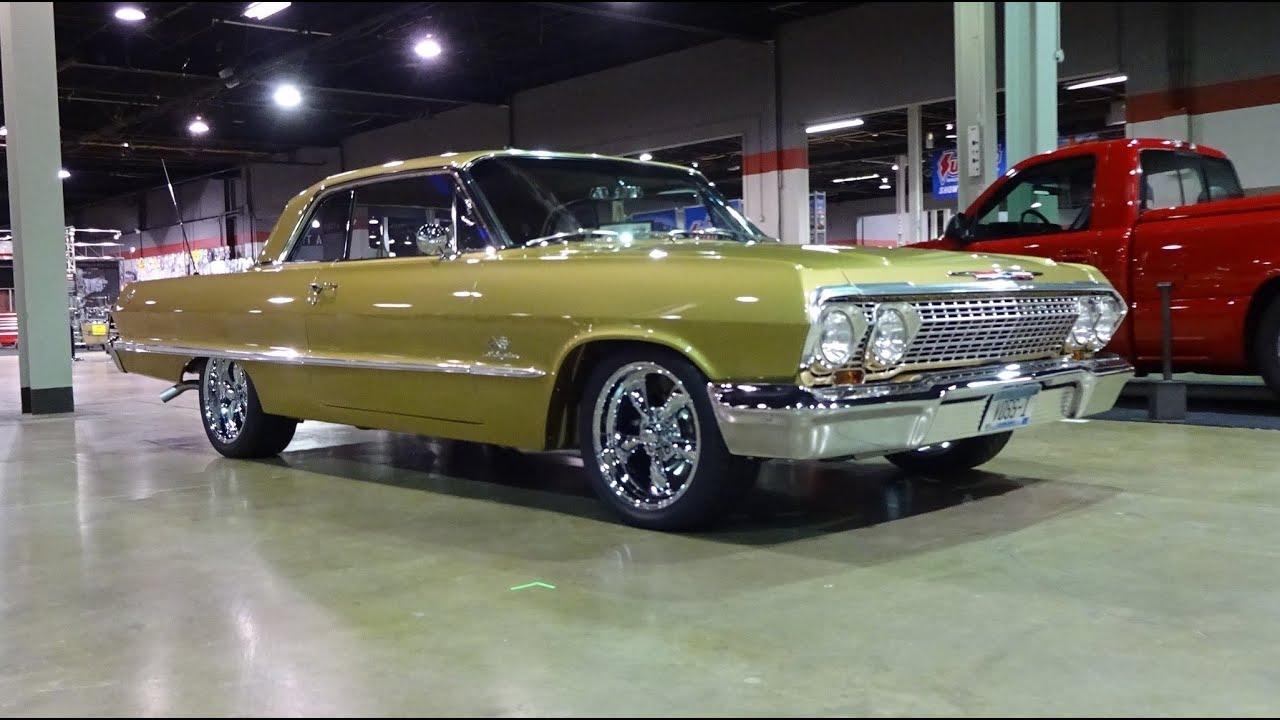 1963 Chevrolet Chevy Impala Ss Restomod In Gold  U0026 Engine
