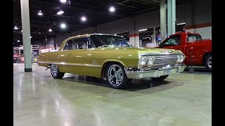 1963 Chevrolet Chevy Impala SS RestoMod in Gold & Engine Sound on My Car Story with Lou Costabile