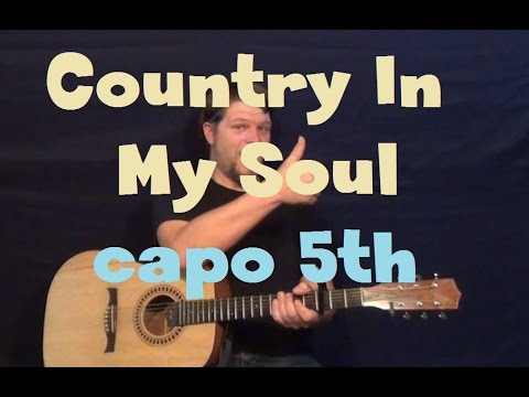 Country In My Soul (Florida Georgia Line) Capo 5th Guitar Lesson How to Play Tutorial