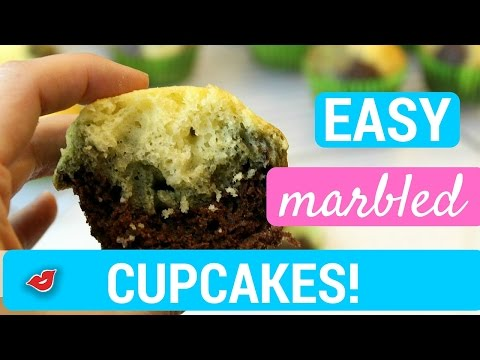 Easy Marbled Cupcakes