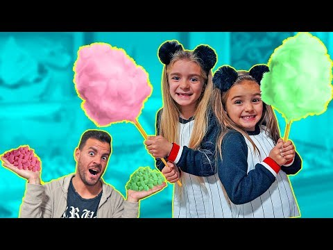 ALGODON de AZUCAR GIGANTE!! GIANT COTTON CANDY!! ItarteVlogs