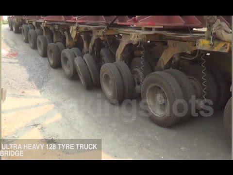 128 Tyre Heavy Truck Breaks Bridge In Sonipat.