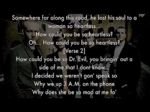 The Fray, Heartless (Kanye West Cover) +lyrics